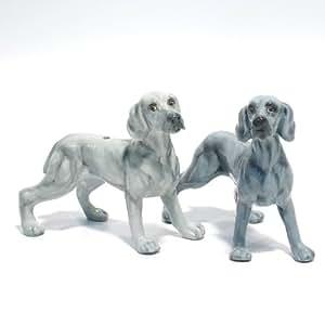 Weimaraner Dog Ceramic Figurine Salt Pepper Shaker 00006 Ceramic Handmade Dog Lover Gift Collectible Home Decor Art and Crafts