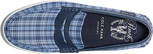 Cole Haan Heren Pinch Weekender Lederen Penny Loafer Cornwal Blauw Madra / Marine Leer