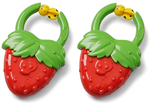 Infantino Vibrating Teether, Strawberry, 2 Count
