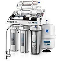 Ukoke RO75GP 6 Stages Reverse Osmosis Water Filtration System with Pump (White)
