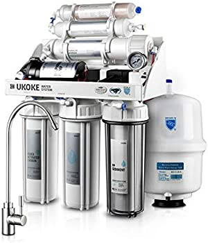 Ukoke RO75GP 6 Stages Reverse Osmosis Water Filtration System with Pump