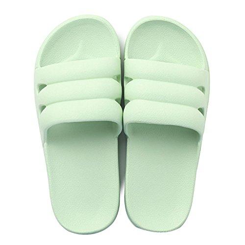 dérapant Couleur SHOP EU36 femelle maison SHI intérieure tongs salle CN36 LI slippers XIANG anti UK4 douche de bains taille souples clair Pantoufles d'été de Vert légère sandales Violet Clair w8UWSRqxE