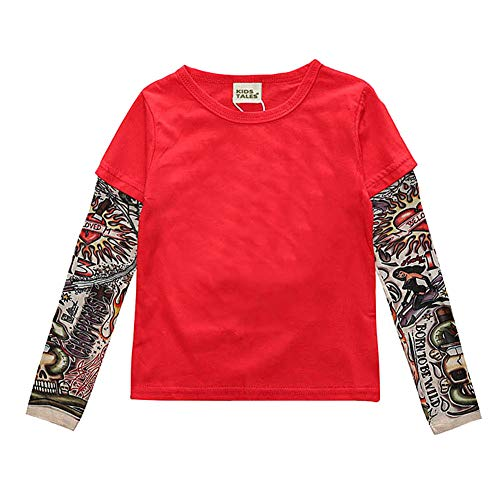 Douhoow Unisex Toddler Baby Boy Girl T-Shirt Romper Bodysuit Tattoo Long Sleeve Clothes