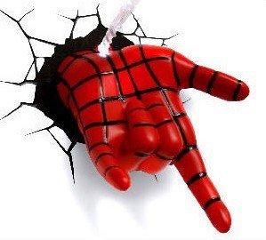 Marvel Ultimate Night Lamp Spiderman Spidey Hand 3D Child Sleeping Light