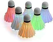 Eugeneq 4 peças de petecas para badminton de LED, petecas para pássaros e esportes ao ar livre