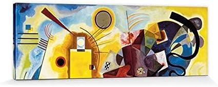 1art1 Vassili Kandinsky - Amarillo Rojo Azul, 1925 Cuadro, Lienzo Montado sobre Bastidor (150 x 50cm)