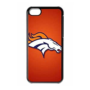 Qxhu Broncos patterns Protective Snap On Hard Plastic Case for Iphone 5C