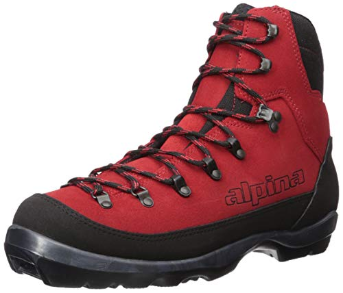Alpina Sports Wyoming Leather Backcountry Cross Country Nordic Ski Boots, Red/Black, Euro - Skis Backcountry Alpina