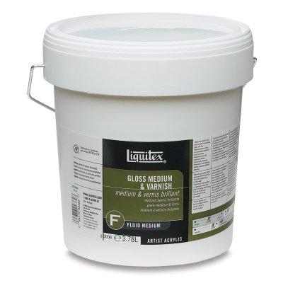 Liquitex Professional Gloss Fluid Medium & Varnish, 128-oz (5036)