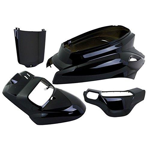 VPARTS - Kit caré nages 4 piè ces MBK Booster Yamaha Bws 04-17 Noir