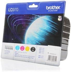 4x Brother Dcp 150 C Original Tinte Lc 970 Val Bpdr Lc 970valbpdr Schwarz Cyan Magenta Gelb Bürobedarf Schreibwaren