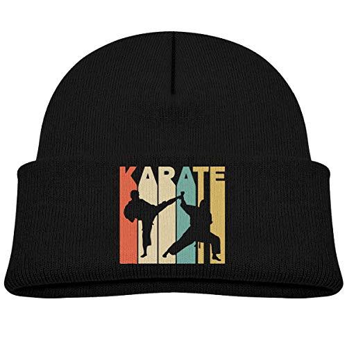 Children's Winter Knitted Hat Vintage Style Karate Beret Cap Children Knitted Beret Hat