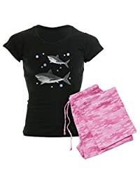 CafePress - Shark - Womens Novelty Cotton Pajama Set, Comfortable PJ Sleepwear