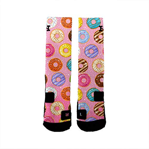 HoopSwagg Brand Athletic Socks Donut Delight Small