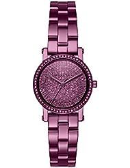 Michael Kors Womens Petite Norie Quartz Stainless Steel Casual Watch, Color:Purple (Model: MK3778)