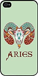 Zodiac Aries-March 21 to April 20-The Ram- Case for the Apple Iphone 5-5s Universal-Hard Black Plastic