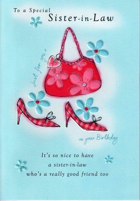 Second Nature Sister In Law Birthday Cards Poetry Motion