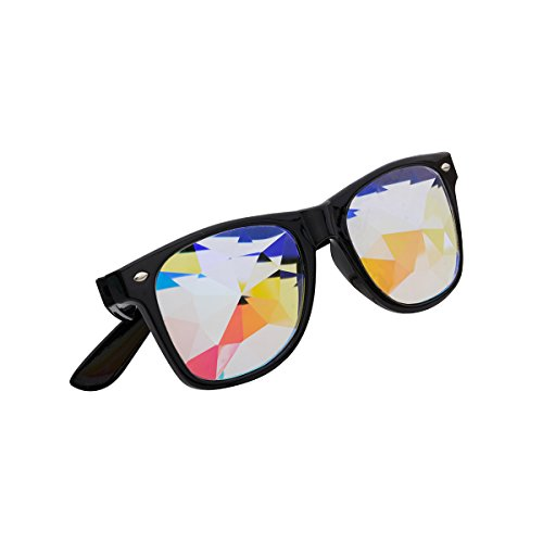 OMG-shop Kaleidoscope Vintage Glasses Rainbow PC Lens Halloween Cosplay Goggles ()