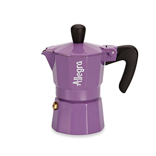 Allegra 1-Cup Espresso Coffee Maker in Purple