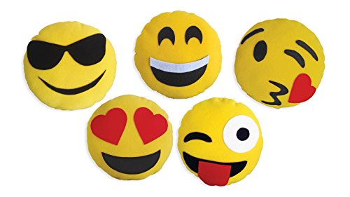 DADM Emoji pillow craft kit, for girls & boys, kids and adults, 32 cm, SelfMe crafts kit.