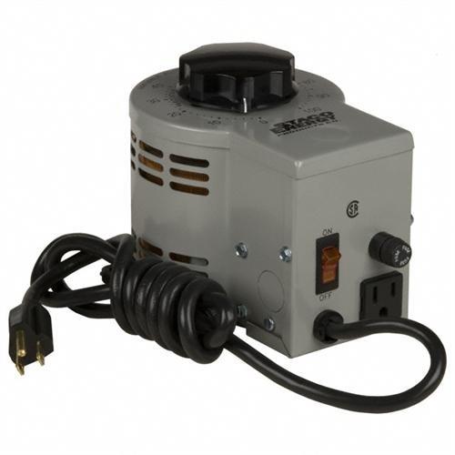 Staco 3PN1010B VT Variable Transformer, Enclosed, Single Phase, 120V, 10 Amps, 50/60 Hz
