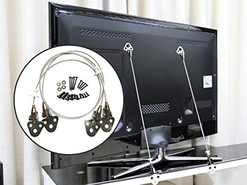 - Metal Anti-Tip Straps Baby Safety Wall Anchor Kit for TV and Furniture - 29.5