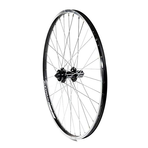 (The Wheel Shop, Rear 26'' Wheel Alex ACE-17 Black/ DC-22 Black, 36 Steel Spokes, QR axle, ISO 6 Bolts Disc 8/9/10 Sp Cassette)