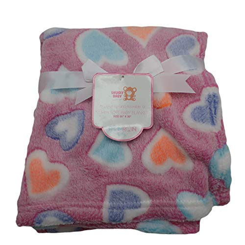 Baby Blankets for Boys & Girls + Bonus Plush Rattle | Super Soft 30