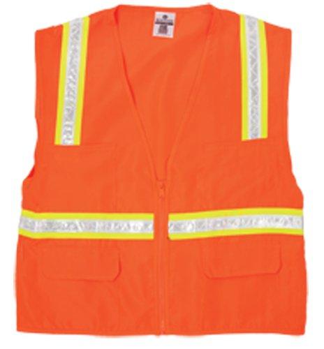 - ML Kishigo 1091 Polyester Economy Multi-Pocket Surveyors Vest, Large, Orange