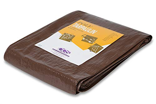 2 Pack - 10' x 12' Reversible Brown Green Poly Tarp ()