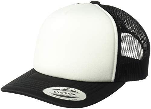 Flexfit Men's YP Classics Curved Foam Trucker with White Front, Black, One Size ()