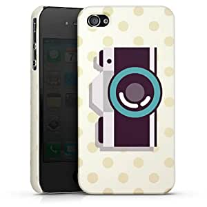 Carcasa Design Funda para Apple iPhone 4 / 4S PremiumCase white - Click!