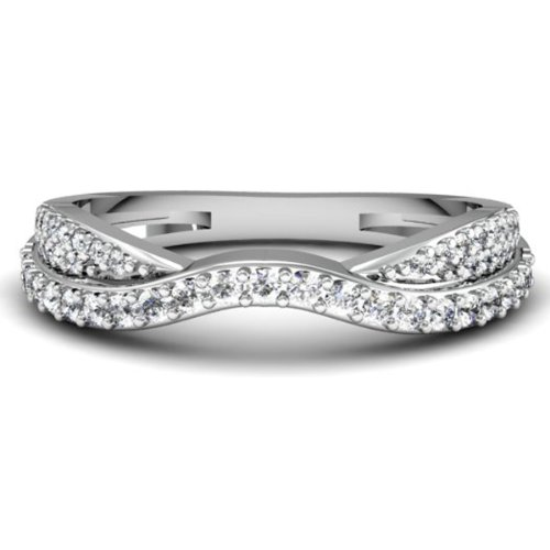 0.36 Carat (ctw) 10k Gold Round Diamond Ladies Bridal Anniversary Wedding Stackable Band 1/3 CT