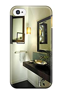 UETIaMy2472YGBdq Contemporary Bathroom With Floating Vanity And Walnut Floors Fashion Tpu 4/4s Case Cover For Iphone