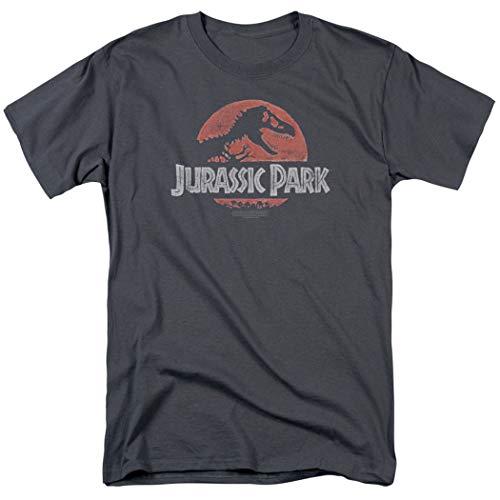 Jurassic Park T Rex Logo T Shirt & Exclusive Stickers (X-Large)