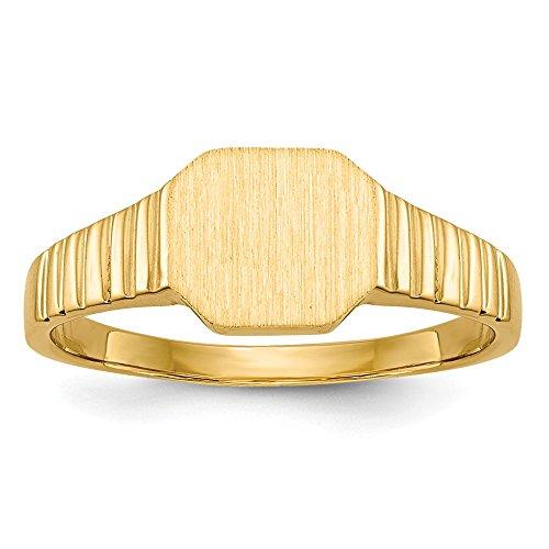 14K Yellow Gold Child's Signet Ring ()