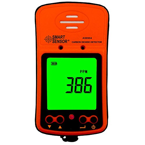 Dioxide Sensor Gas Carbon (Handheld CO2 Gas Detector 350~9999PPM Portable LCD Display Rechargeable Li-Battery Powered Digital Carbon Dioxide Gas Monitor)