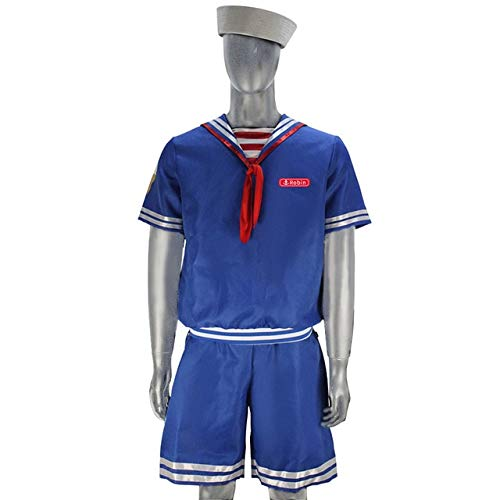 WSJDE Stranger Things 3 Robin Scoops Ahoy Navy Uniforme Cosplay ...