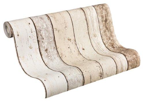 AS-Creation-895110-New-England-Papel-pintado-estampado-imitacin-madera-color-beige-marrn-y-blanco