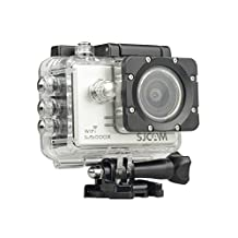 SJCAM SJ5000X Elite Action Camera 4K 24fps 1080P WiFi 2.0 LCD 12MP SONY Gyro Sports Waterproof Cam DV/VCR/CA R/DVR Camcorder HDMI Out And OSD Enabled for Motorcycle Diving Swimming (SILVER)