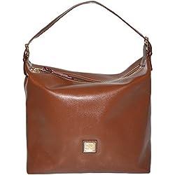 Dooney & Bourke Amber Leather Large Shoulder Sac Hobo Satchel Handbag Bag Purse