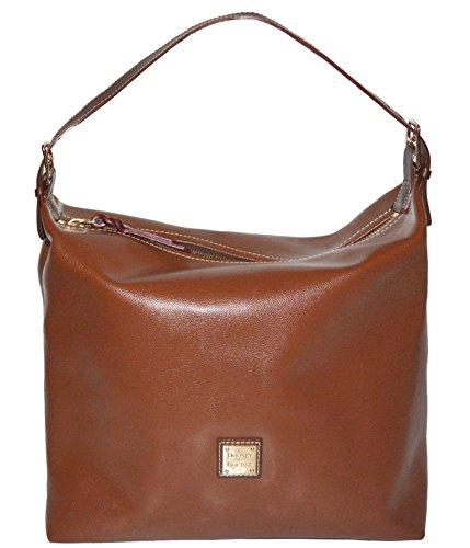 Dooney & Bourke Amber Leather Large Shoulder Sac Hobo Satchel Handbag Bag Purse by Dooney & Bourke