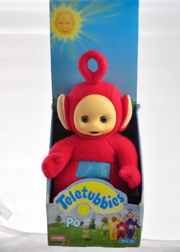 1998 Original Playskool Teletubbies Po Plush Stuffed Toy Doll (Bear Playskool)