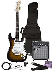 squier 030 1600 032 se electric guitar and amplifier starter pack brown sunburst. Black Bedroom Furniture Sets. Home Design Ideas