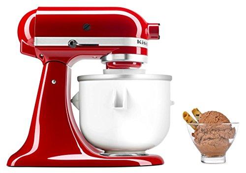 KitchenAid KICA Speiseeismaschine-Zubehör Küchenmaschine, iron, 1.9 kilograms, weiß/silber/schwarz