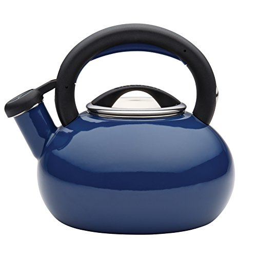 Circulon Teakettles Sunrise Whistling Teakettle, 1 1/2-Quart, Navy Blue