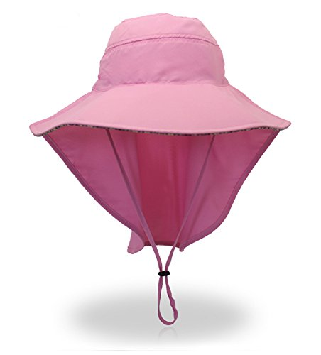 55509d260526d2 YOYEAH Outdoor Sun Protection Hat Wide Brim Fishing Cap with Neck Flap for  Safari Camping Hiking Hunting Boating and Outdoor Adventures For Men Women  Pink-B