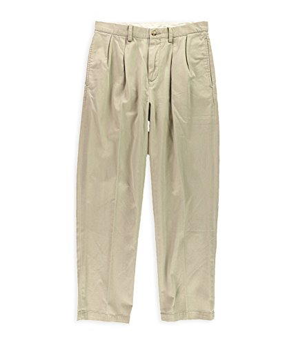 Fit Double Pleat Pant (Polo Ralph Lauren Mens Classic Fit Double Pleat Chino Pants 34X29)