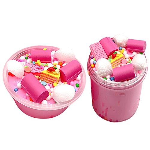 Putars Cloud Puff Squishies Mud Cake 2Pack Milk Slime Putty Scented Stress Clay Sludge Toy, Sludge Toy for Kids | Fun Mud Slime | Jumbo Pack -
