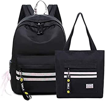 Large-capacity Two-piece Backpack College Wind Junior High School Student Bag